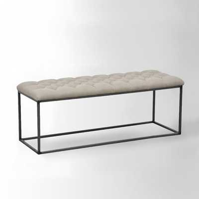 Tufted Bench - Flax - West Elm