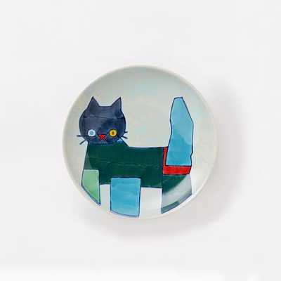 Collector's Editions Plates- Blue Cat - West Elm