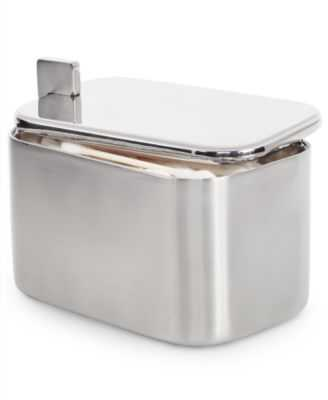 CLOSEOUT! Hotel Collection Hotel Modern Brushed Stainless Steel Jar - Macys
