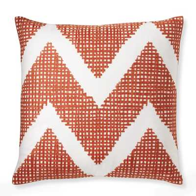 Chevron Crosshatch Pillow Cover - 20x20, No Insert - Williams Sonoma Home