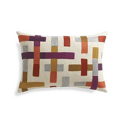 """Madison 22""""x15"""" Pillow with Down-Alternative Insert - - Crate and Barrel"""