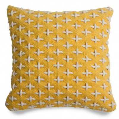 "Mima Pillow- Yellow- 18"" x 18""- Insert Sold Separately - BluDot"
