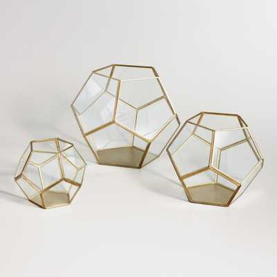 Brass Geo Terrarium - Medium - World Market/Cost Plus