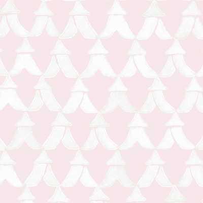 TENTS - PETAL/PAPER WHITE - Walnut Wallpaper