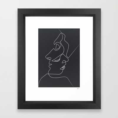 "Close Noir - 10"" x 12"" - Vector Black Frame - Society6"
