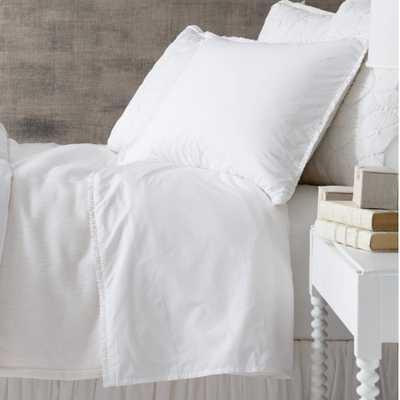 Petite Ruffle White Sheet Set, King - Pine Cone Hill