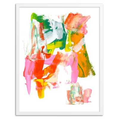 """Abstract I Wall Art- 13""""w x 16""""l.- White frame - West Elm"""