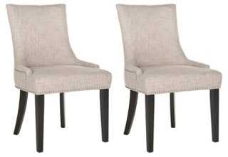 Heather Beige Lester Dining Chairs, Pair - One Kings Lane