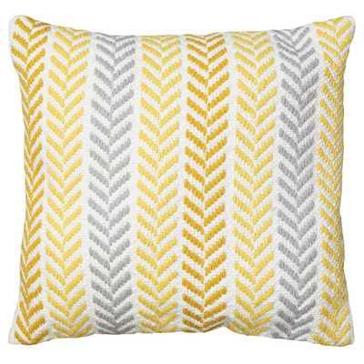 Chevron Cotton Throw Pillow 18''SQ. Insert included - AllModern