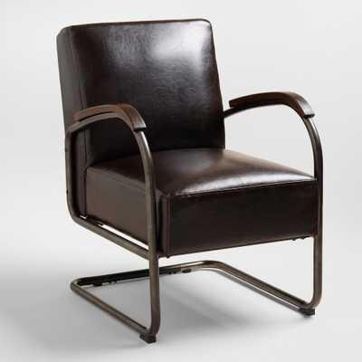 Bi-Cast Leather Rhett Cantilever Chair - World Market/Cost Plus