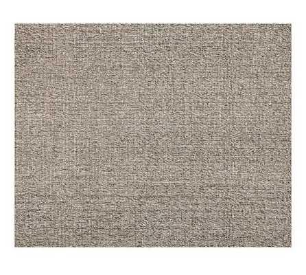 Chunky Wool & Jute Rug - Gray - 8' x 10' - Pottery Barn