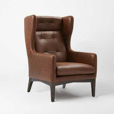 James Harrison Wing Chair - Leather - West Elm