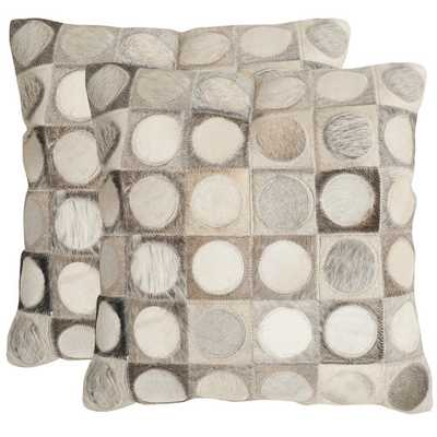 Brigittecowhide SuedeThrow Pillow - AllModern