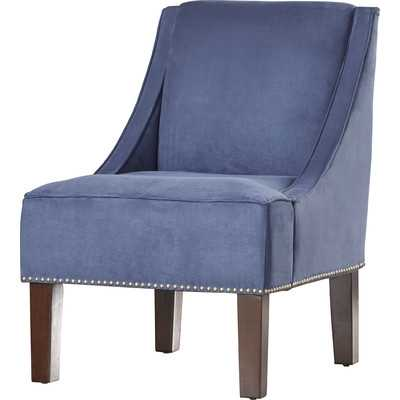 Nail Button Swoop Arm Chair - Lazuli Blue - Wayfair