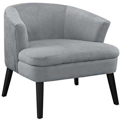 BOUNCE WOOD ARMCHAIR IN GRAY - Modway Furniture