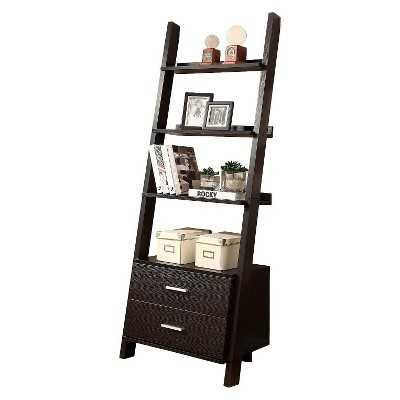 Monarch Specialties Ladder Bookcase with Drawers - Target