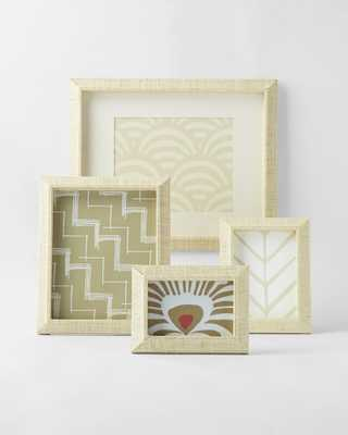"""Woven Raffia Frame, Natural, 4""""W x 6""""H - Serena and Lily"""