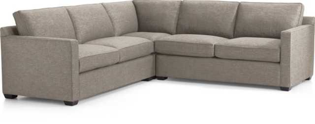 Davis 3-Piece Sectional Sofa - Pumice - Crate and Barrel