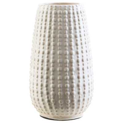 Surya Clearwater White Medium Vase - Layla Grace