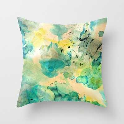 "Diving - THROW PILLOW	/ INDOOR COVER (20"" X 20"") WITH PILLOW INSERT - Society6"