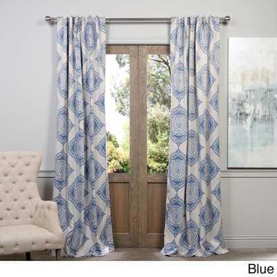 "EFF Henna Blackout Curtain Panel - Blue - 120"" - Overstock"
