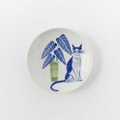 Collector's Editions Plates- Navy Cat + Plant - West Elm