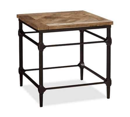 Parquet Reclaimed Wood & Metal Side Table - Pottery Barn