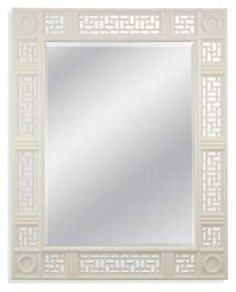 Lacey Oversize Mirror, White Laquer - One Kings Lane