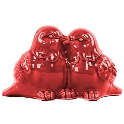 Kissing Bird Couple Figurine - AllModern
