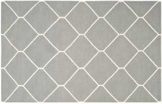 Papillon Dhurrie Rug, Gray - 3' x 5' - One Kings Lane