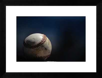 Baseball- 46x34- Framed - Photos.com by Getty Images