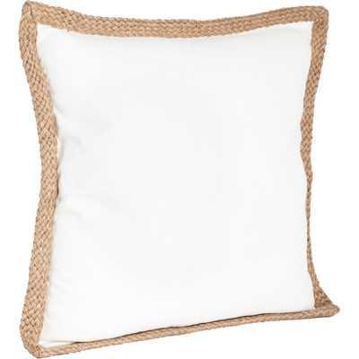 Lake Geneva Cotton Throw pillow - Ivory (with Insert) - Wayfair