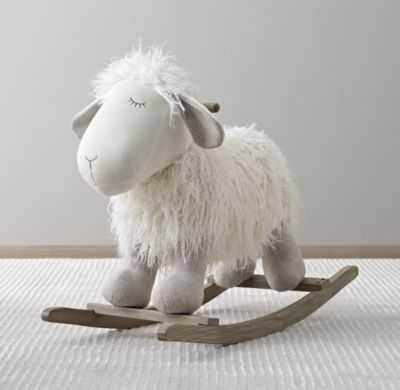 Wooly plush rocking animal - Lamb - RH Baby & Child