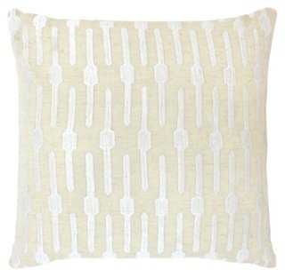Geo  Embroidered Pillow - One Kings Lane