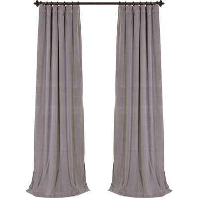 "Signature Blackout Velvet Single Curtain Panel - 84"" - Wayfair"