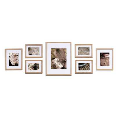 Gallery 7 Piece Perfect Wall Picture Frame Set - Natural - Wayfair