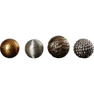 Henley Decorative Ball Sculpture (Set of 4) - Wayfair