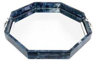 "20"" Lapis-Style Mirrored Tray - One Kings Lane"