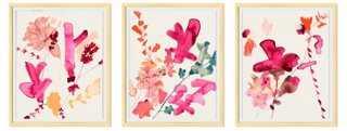 "Jen Garrido, Pink Triptych- Set of 3- 20""W x 24""H- - One Kings Lane"