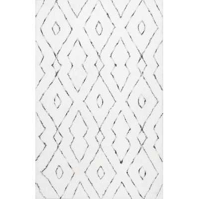 Beaulah Hand-Tufted White Area Rug 8x10 - Wayfair