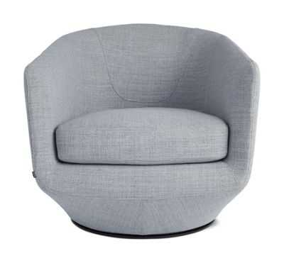 U-Turn Swivel Chair, Lama Tweed - Scarlet - Design Within Reach