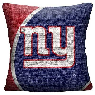 "NFL New York Giants Woven Pillow - Multi-Colored (20""x20"")-Polyester insert - Target"