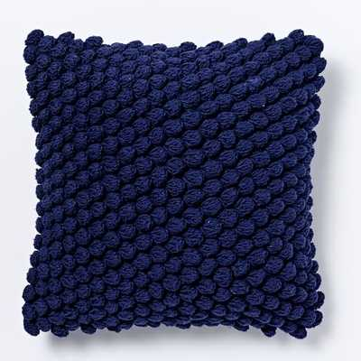 "Bubble Knit Pillow Cover - Nightshade - 16""sq - Insert sold separately - West Elm"