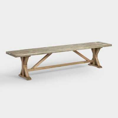 Two Tone Wood San Remo Dining Bench - World Market/Cost Plus