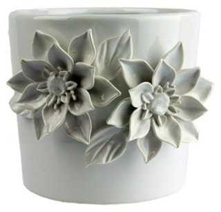 "6"" Magnolia Cachepot, White - One Kings Lane"