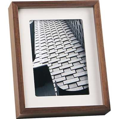Walnut 5x7 picture frame. - CB2