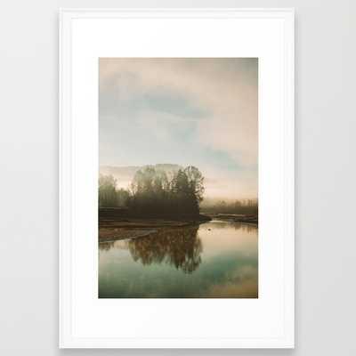 Calm Lake - 26x38, Framed - Society6