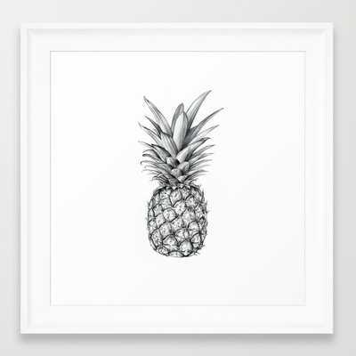 """Pineapple- 12"""" X 12""""- Framed - Society6"""