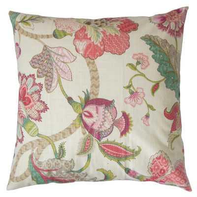 "Juhani Floral Cotton Throw Pillow -18"" x 18"" -Down/Feather - Wayfair"