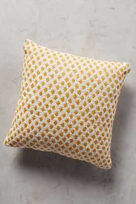 Diamond Dots Pillow - Yellow - 18x18 - With Insert - Anthropologie